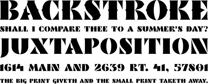 Actio Font Phrases