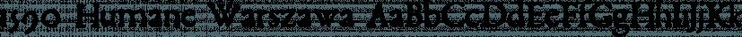 1590 Humane Warszawa font family by GLC Foundry