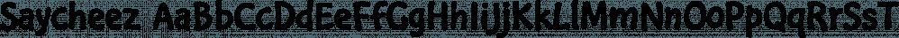 Saycheez font family by Wilton Foundry