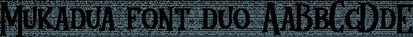 Mukadua font family by Letterhend Studio