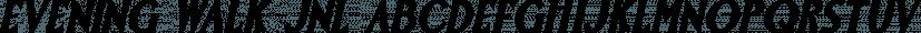 Evening Walk JNL font family by Jeff Levine Fonts