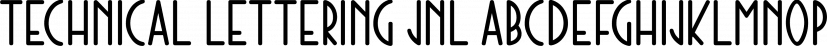 Technical Lettering JNL font family by Jeff Levine Fonts