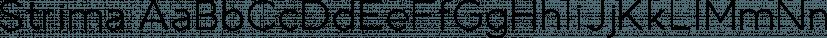 Strima font family by Nicolas Deslé