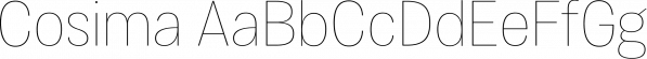 Cosima font family by Anita Jürgeleit