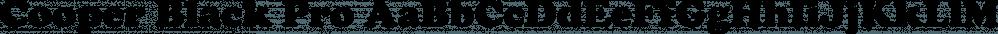 Cooper Black Pro font family by SoftMaker