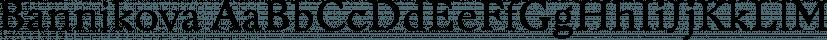 Bannikova font family by ParaType