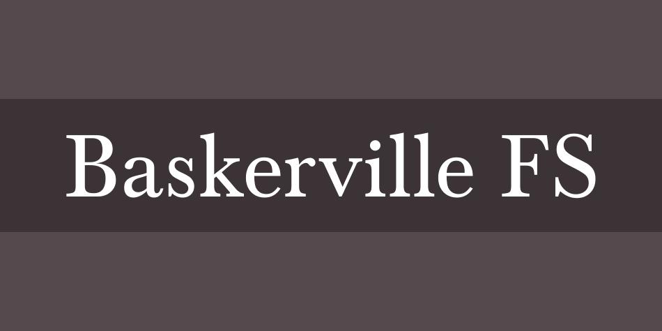 Baskerville FS Font Poster