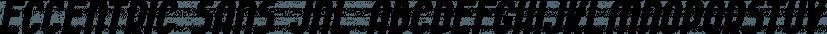 Eccentric Sans JNL font family by Jeff Levine Fonts