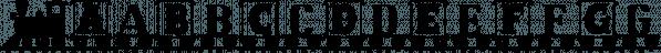 LetterTrain font family by Ingrimayne Type