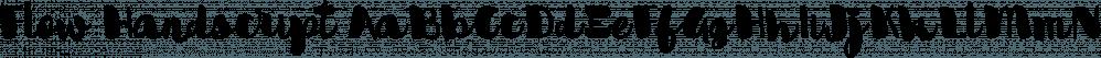 Flow Handscript font family by Taner Ardali