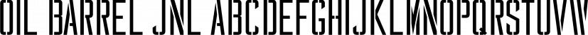 Oil Barrel JNL font family by Jeff Levine Fonts