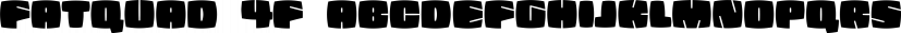 Fatquad 4F font family by 4th february