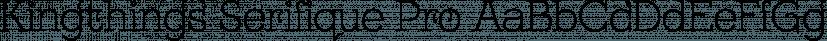 Kingthings Serifique Pro font family by CheapProFonts