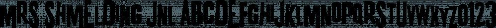 Mrs Shmelding JNL font family by Jeff Levine Fonts