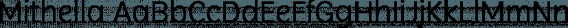 Mithella font family by Lafontype