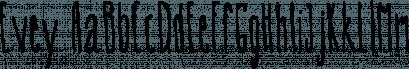 Evey font family by Konstantina Louka