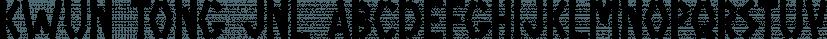 Kwun Tong JNL font family by Jeff Levine Fonts