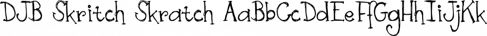 DJB Skritch Skratch font family by Darcy Baldwin Fonts