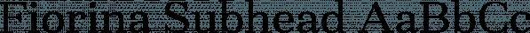Fiorina Subhead font family by Mint Type