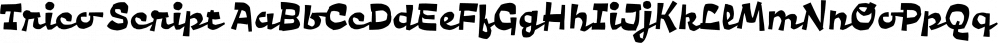 Trico Script font family by Flehatype