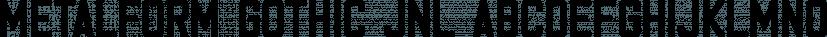 Metalform Gothic JNL font family by Jeff Levine Fonts