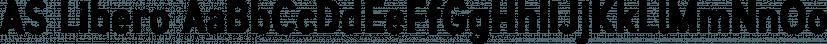AS Libero font family by Aleksandr Sukiasov