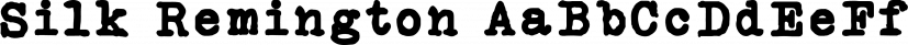 Silk Remington font family by Jadugar Design Studio