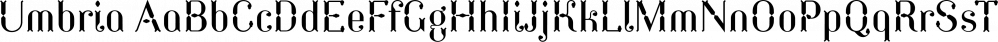 Umbria font family by TipografiaRamis