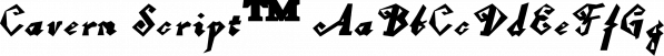 Cavern Script™ font family by MINDCANDY