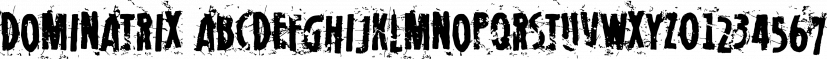 Dominatrix font family by Blambot