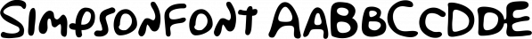 Simpsonfont font family by Sharkshock