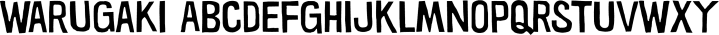 Warugaki font family by Typodermic Fonts Inc.