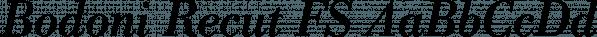 Bodoni Recut FS font family by FontSite Inc.