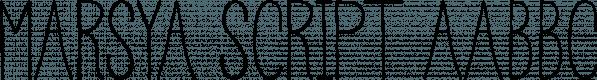 Marsya Script font family by Area Type Studio