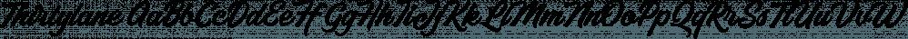 Thirtylane font family by Letterhend Studio