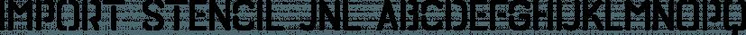 Import Stencil JNL font family by Jeff Levine Fonts