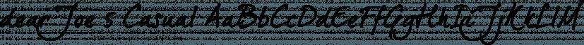 dearJoe 5 Casual font family by JOEBOB Graphics