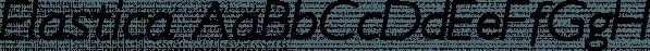 Elastica font family by Resistenza.es