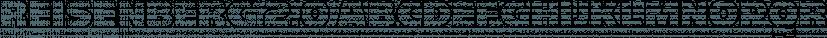 Reisenberg 2.0 font family by Sharkshock