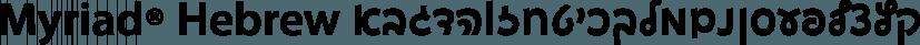 Myriad® Hebrew font family by Adobe