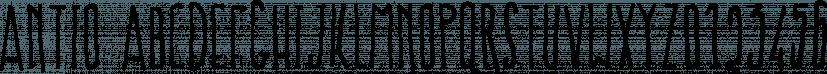 Antio font family by Konstantina Louka