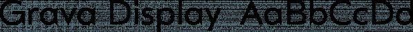 Grava Display  font family by Positype