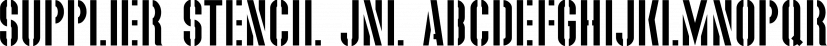 Supplier Stencil JNL font family by Jeff Levine Fonts