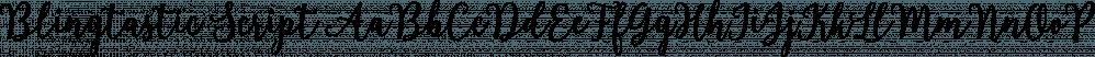 Blingtastic Script font family by Seniors Studio