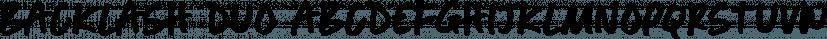 Backlash Duo font family by Set Sail Studios