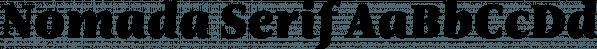 Nomada Serif font family by Tipografies