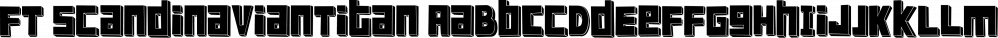 FT ScandinavianTitan font family by Fenotype