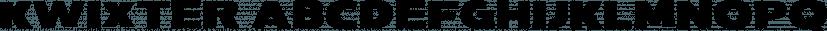 Kwixter font family by Sharkshock