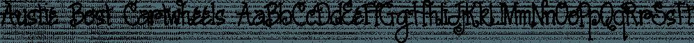 Austie Bost Cartwheels font family by Austie Bost Fonts