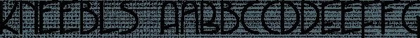 Kneebls font family by Ingrimayne Type